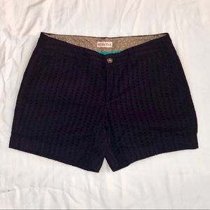 Merona Navy Blue Eyelet Shorts